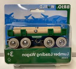 Brio World Wooden Railway Lumber Loading Wagon #33696, New
